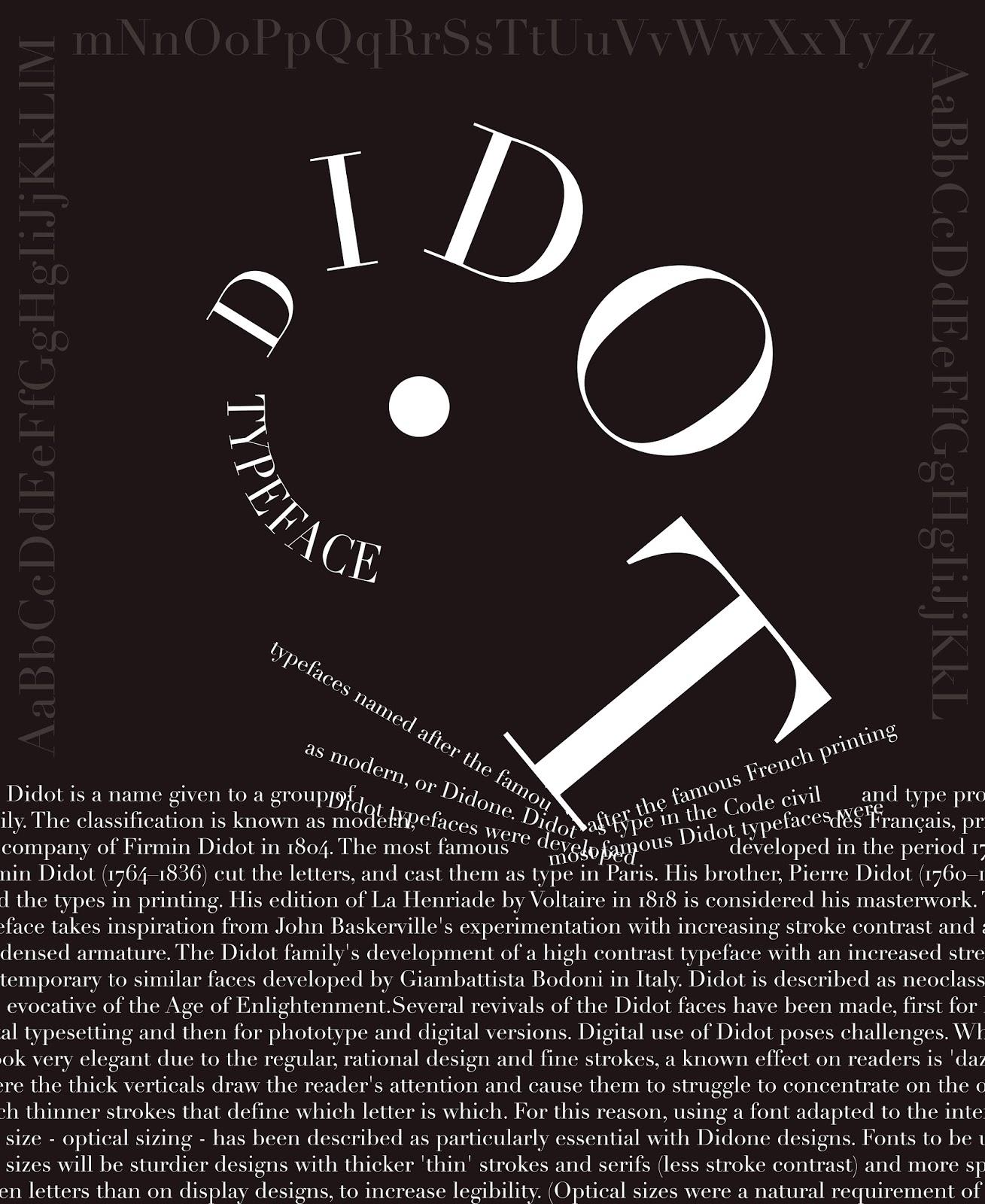 Imagemaking: Didot Typography Poster