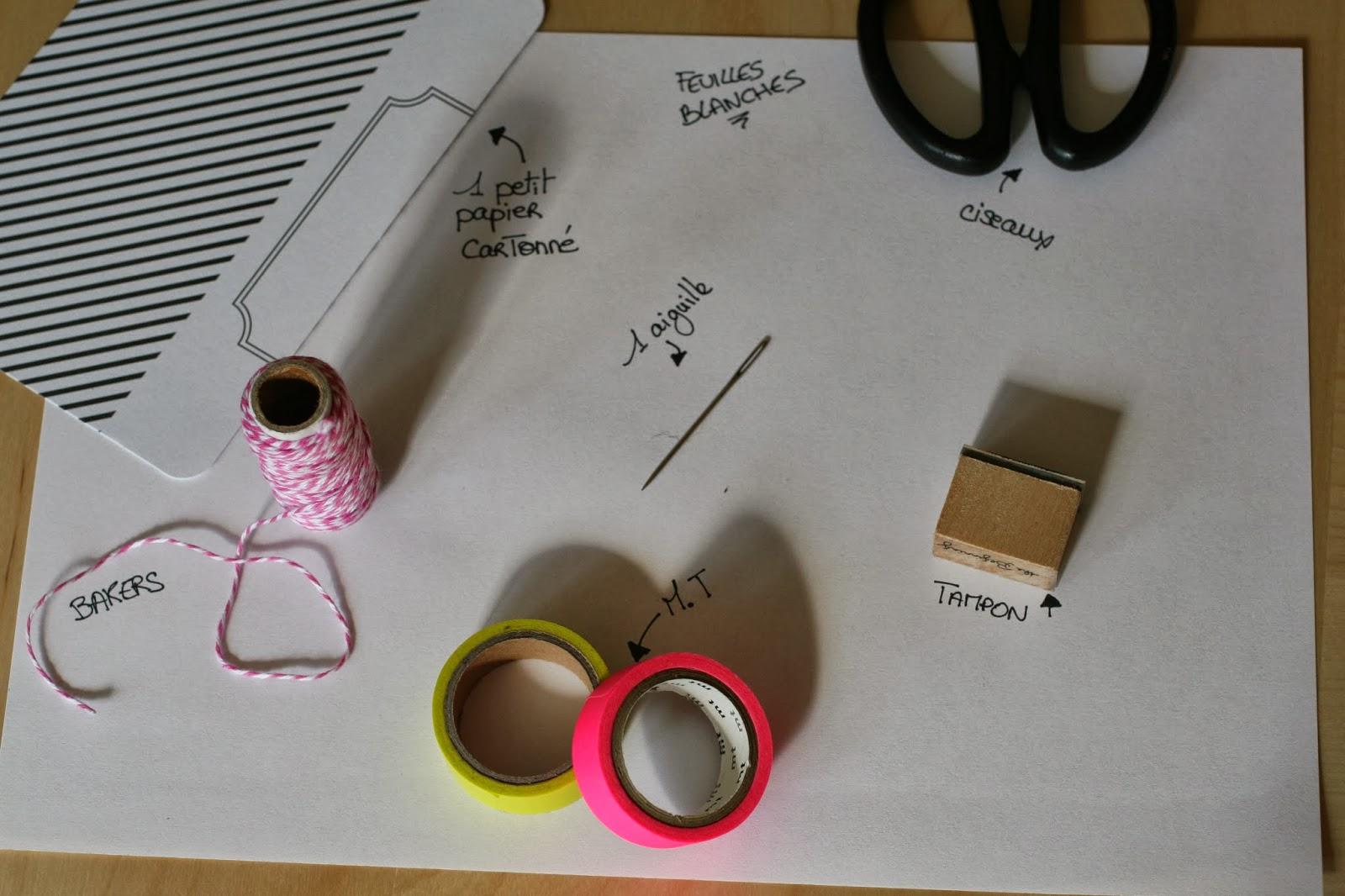 fabriquer un petit carnet un atelier au fond des bois. Black Bedroom Furniture Sets. Home Design Ideas