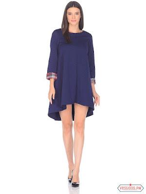 Vestido azul de coctel