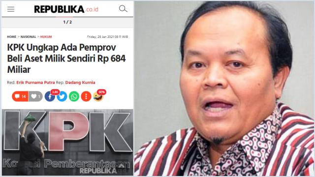 KPK Tengah Usut Pemprov Beli Aset Milik Sendiri Rp684 Miliar, HNW: Segera Tuntaskan!
