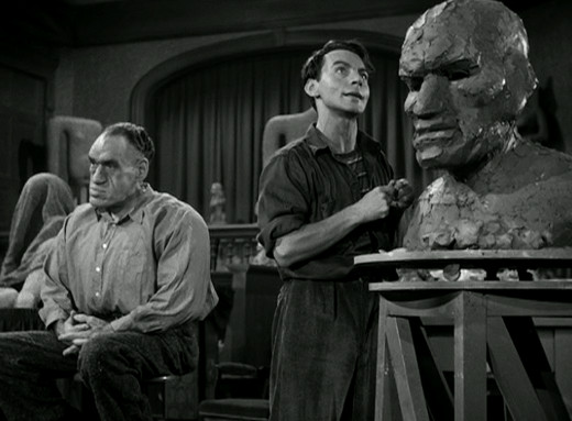 Rondo Hatton and Martin Kosleck in House of Horrors (1946)