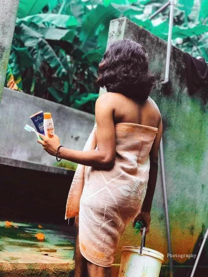 Bath scene Kerala