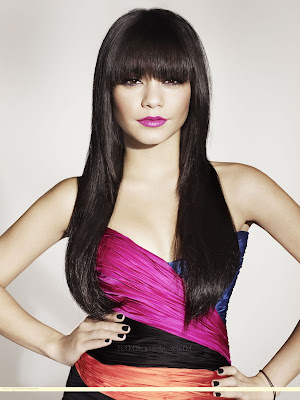 Vanessa Hudgens Bangs Hairstyle