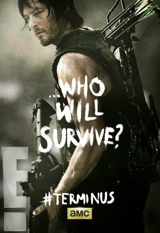 "The Walking Dead Season 4 Finale ""Terminus"" One Sheet Television Posters - ...Who Will Survive? - Norman Reedus as Daryl Dixon"
