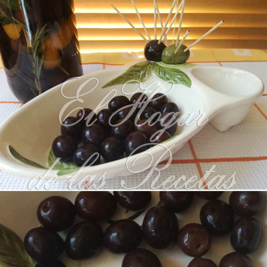 Aceitunas negras caseras