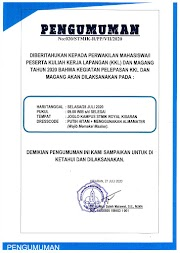 PENGUMUMAN PELEPASAN KKL T.A 2020/2021