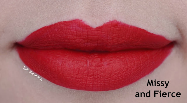 wet n wild liquid catsuit matte lipstick review swatches look missy and fierce 930b lips