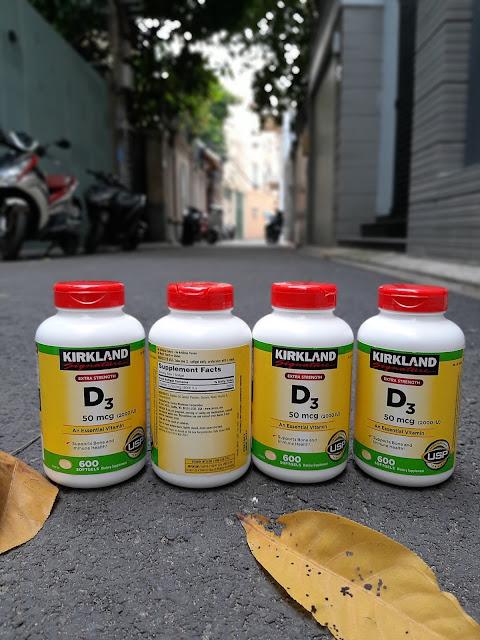 Viên uống Vitamin D3 Kirkland Extra Strength D3 50mcg của Mỹ 2