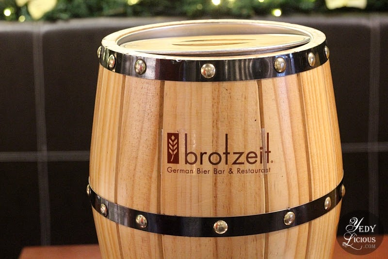 A Holiday Feast at Brotzeit German Bier Bar and Restaurant - a Blog Review by YedyLicious Manila Food Blog | Yedy Calaguas Best German Restaurant in Manila Philippines, KTG Bloggers Top Best Food Blogger in Manila Philippines