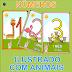 Números ilustrados com animais