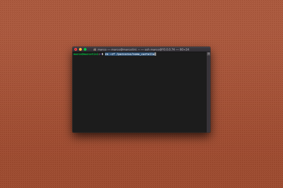 Come cancellare una cartella piena da riga di comando su Raspberry Pi