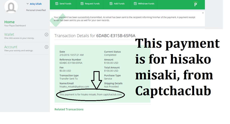 online casino payment proof