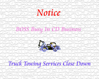 Truck Towing Notice.
