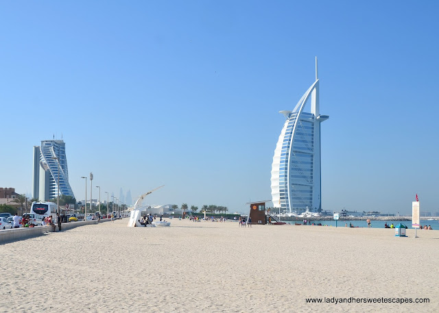 Burj Al Arab view from Umm Suqueim public beach
