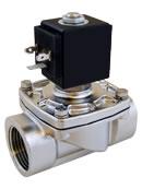 Stainless steel industrial solenoid valve