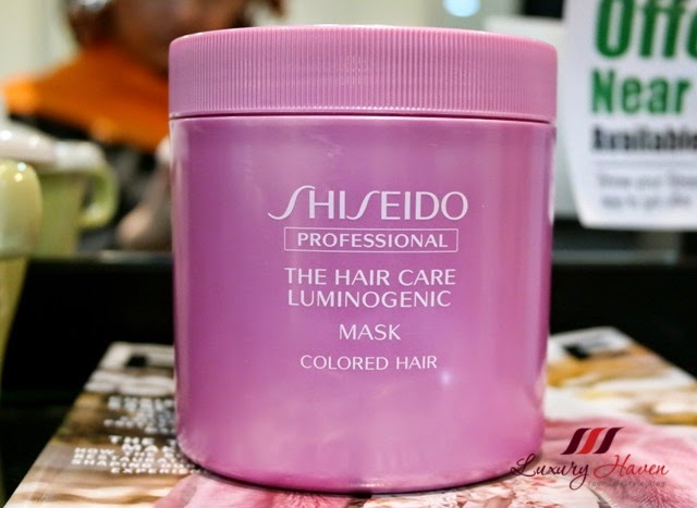 naoki yoshihara shiseido luminogenic mask hair treatment review