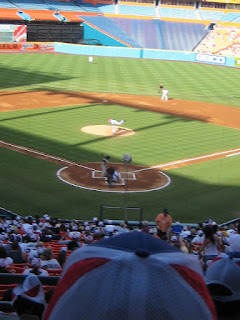 First pitch, Pirates vs. Marlins