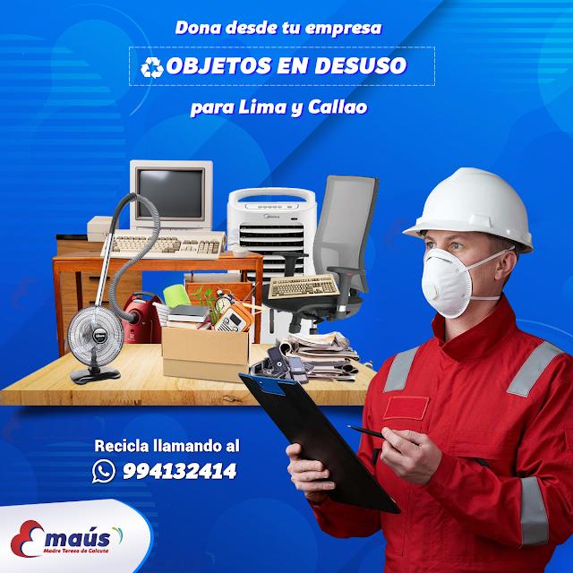 Dona desde tu empresa objetos en desuso en Lima