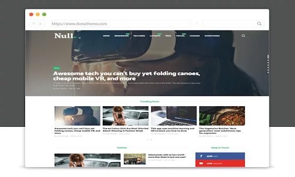 Null Magazine Blogger Template