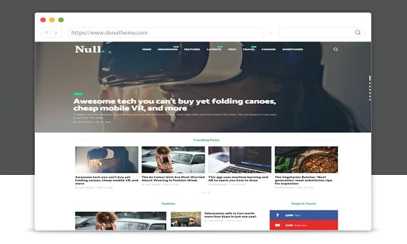 Null Magazine Blogger Template - Responsive Blogger Template