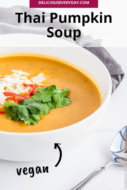 Thai Pumpkin Soup with Coconut Milk (vegan)