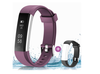 HolyHigh 115U Smart Fitness Band, Waterproof Fitness Tracker Watch for Men Women Kids on Amazon