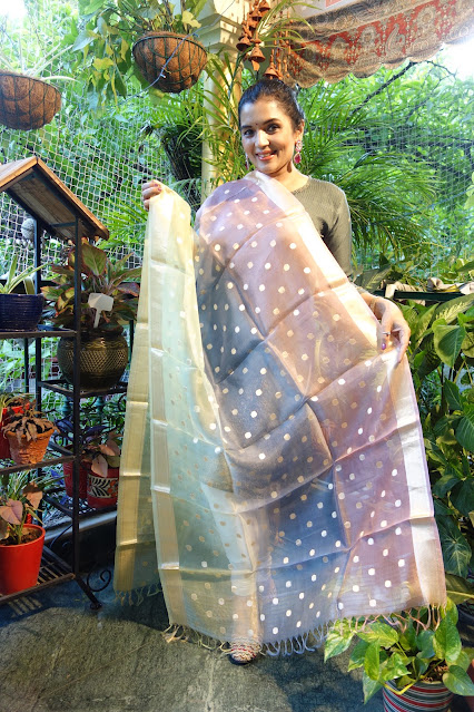 Banarasi Kora silk ombré dupatta