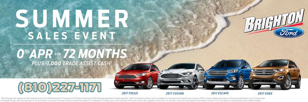 brighton ford 0 financing for 72 months extra 1 000 trade in extended into july. Black Bedroom Furniture Sets. Home Design Ideas