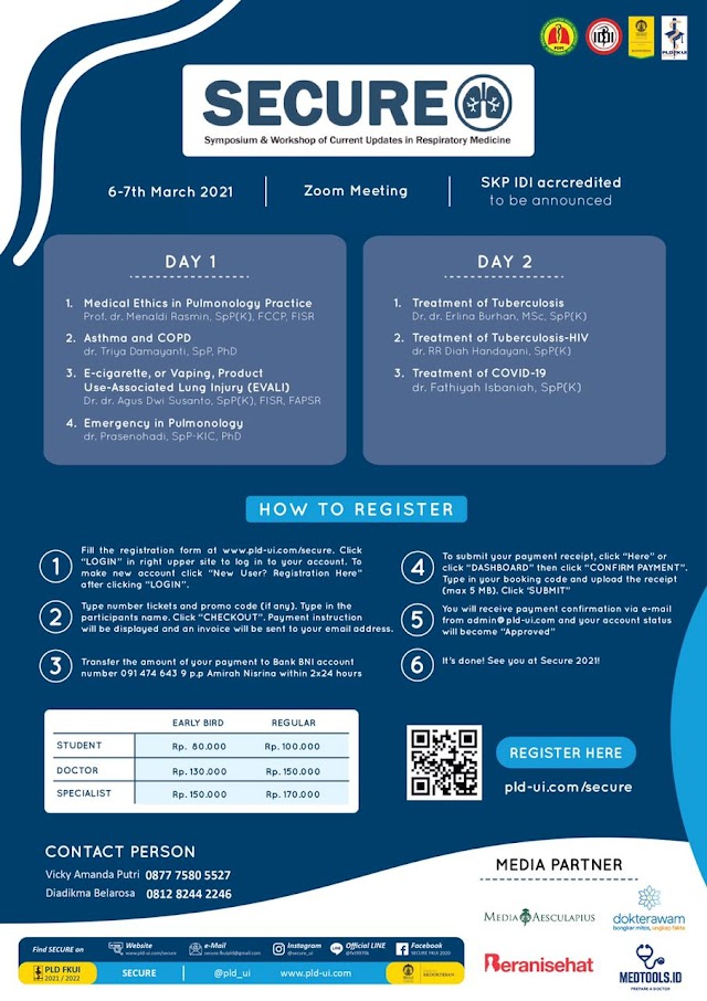 Webinar Main-event SECURE 2021, Current Updates in Respiratory Problems