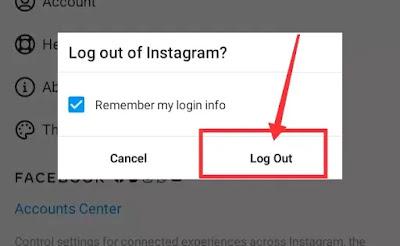 Instagram Account Logout