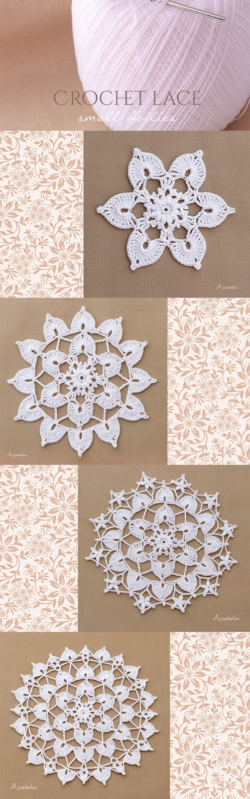 New crochet lace doilies by Anabelia Craft Design