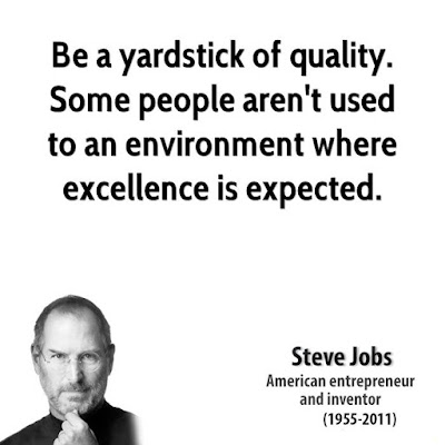 Quotes on excellence by Steve Jobs