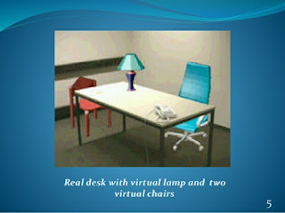 Figure 1: AR example with virtual chairs and a virtual lamp.