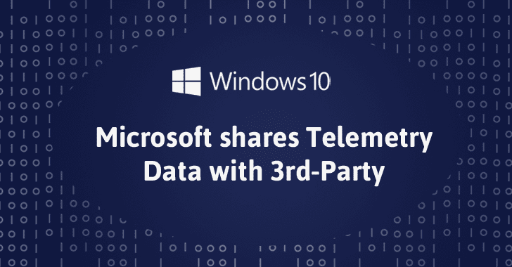 Microsoft Shares Telemetry Data Collected from Windows 10 Users with