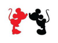 Mickey Minnie Vetor para corte Silhouette studio
