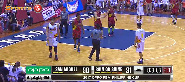 San Miguel eliminates Rain or Shine, 98-91 (REPLAY VIDEO) February 5