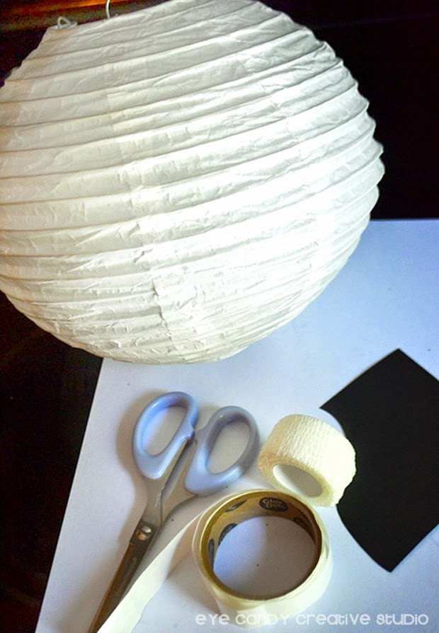 mummy paper lantern, halloween decor for parties, halloween party decor