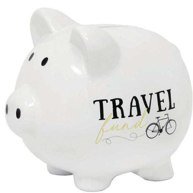 Marti Travel Fund Ceramic Piggy Bank