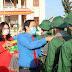 91 thanh niên Phú Tân hăng hái lên đường nhập ngũ