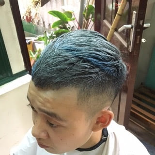 Hình ảnh sau khi sử dụng keo xịt tóc màu