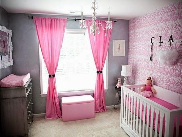 Dormitorios para beb s en color rosa y gris dormitorios for Cuarto lleno de rosas