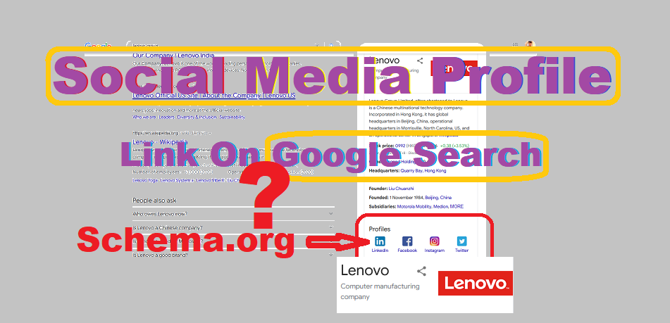 Schema.org | How to add social media links to Google search profile.