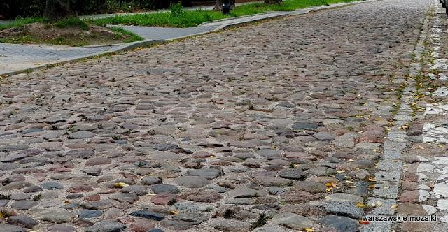 Warszawa Warsaw Targówek bruk ulica brukowana Adolfówka Adolf Gustwa Dirks ulica