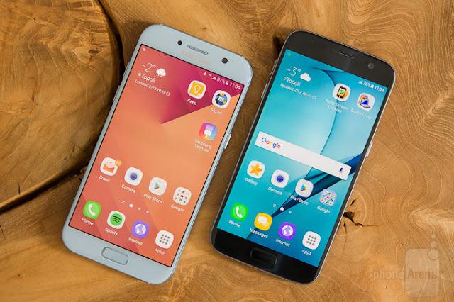 Nên mua Galaxy S7 hay A5 2017
