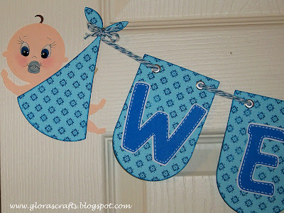 Glora S Crafts Welcome Baby Banner