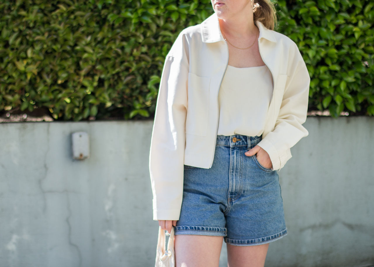 Oak & Fort jacket and earrings - Canadian Fashion Blogger - Summer style