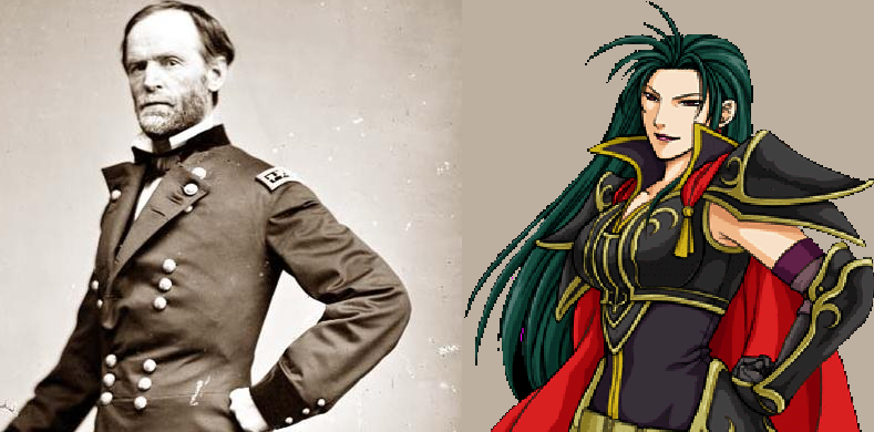 William Tecumseh Sherman of Civil War and Petrine of Fire Emblem: Path of Radiance