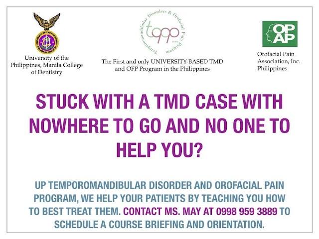 8th UP TMD & Orofacial Pain Program (UPTOPP)