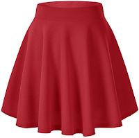 skirt, red