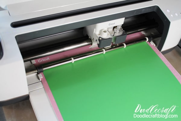 Click the Make button and insert the iron-on. Place the iron-on vinyl on the mat with the shiny/slick surface facing down. Repeat the cutting process for each color. Cricut Design Space will let you know which color comes next.